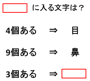 ひらめきクイズ5問