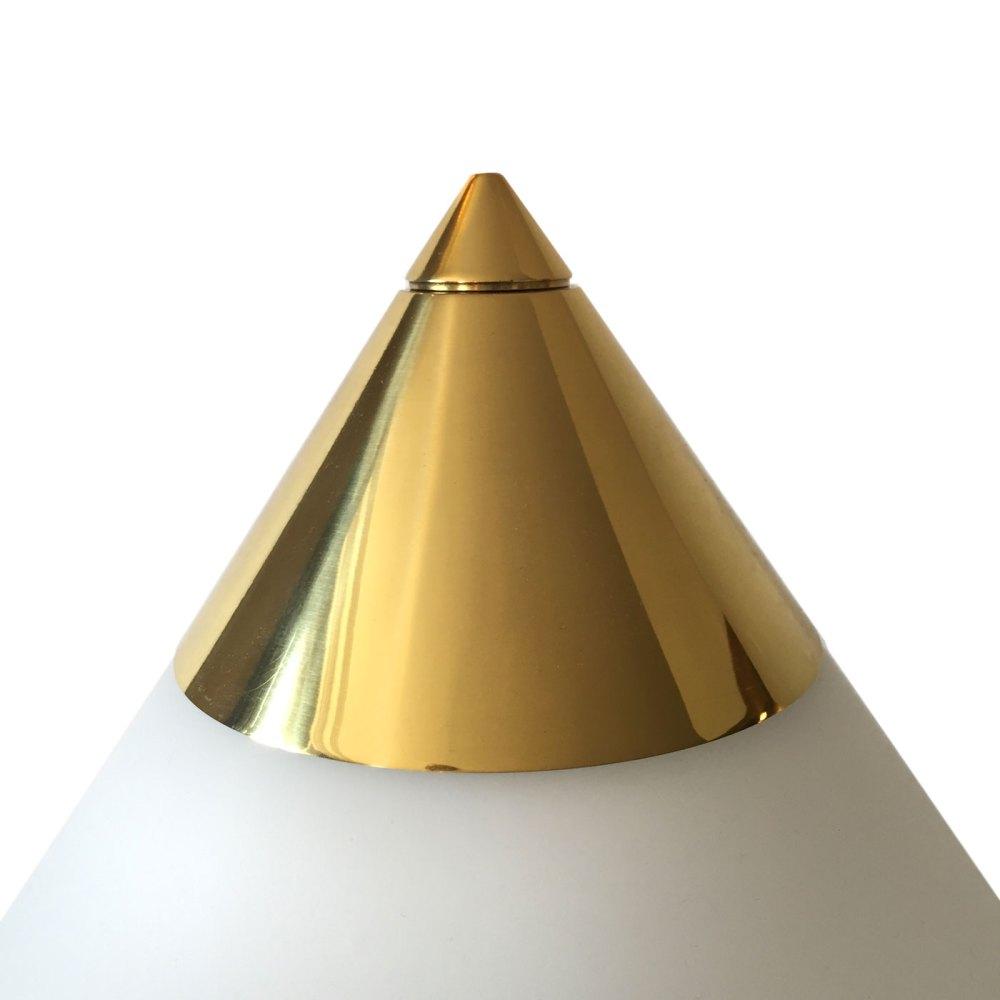 Lampe de salon vintage en laiton opaline blanche par limburg vente en ligne sur ltgmood.com