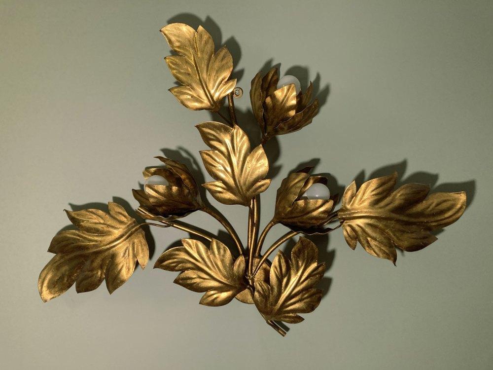 Applique florale, grand modèle, Hans Kögl 1970. En vente sur ltgmood.com