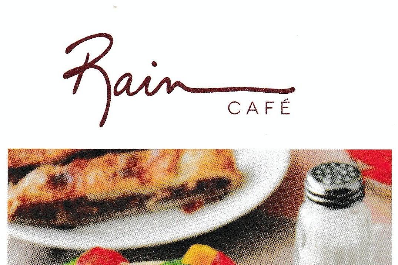 Rain Cafe Menu
