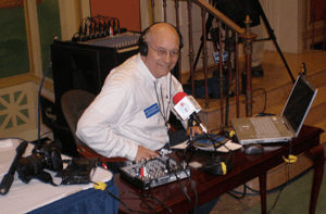 Steve Lubetkin podcasting at Leadership New Jersey 2009
