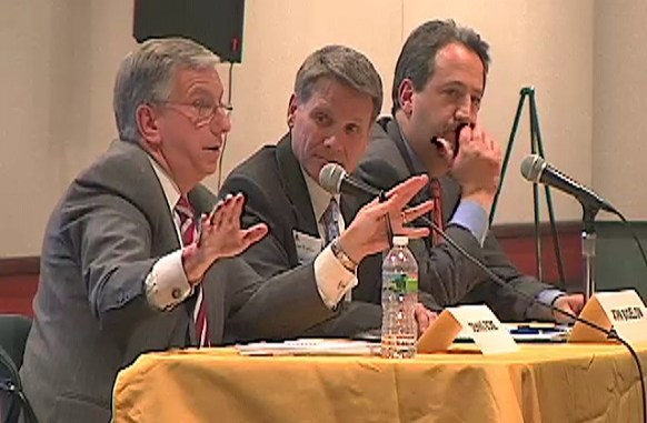 Dennis Bone of Verizon comments during Forum on the Future of NJ