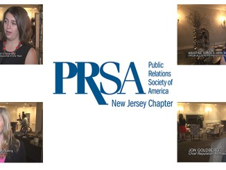 LMC's most recent video for the PRSA NJ Chapter features interviews with four award winners from the 2016 Pyramid Awards event. Clockwise from upper left: Jessica Bacher, Kristine Simoes, APR; Jon Goldberg; and Ilana Zalika.