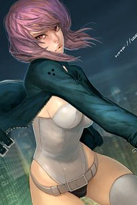 Major Kusanagi from Masamune Shirow's Ghost in the Shell