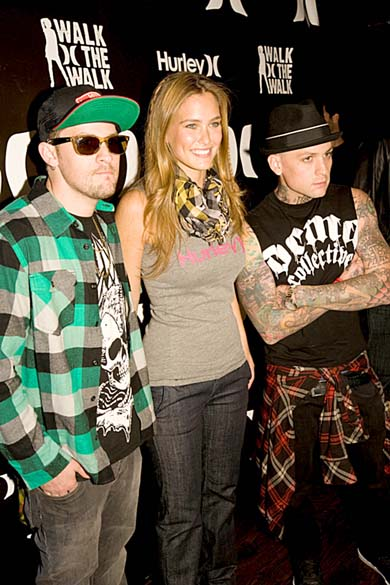 Bar Refaeli and Good Charlotte's Joel and Benji Madden in Lucire