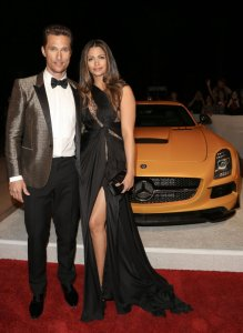 Matthew McConaughey and his wife Camila Alves McConaughey at the Mercedes-Benz Palm Springs International Film Festival, January 2013.