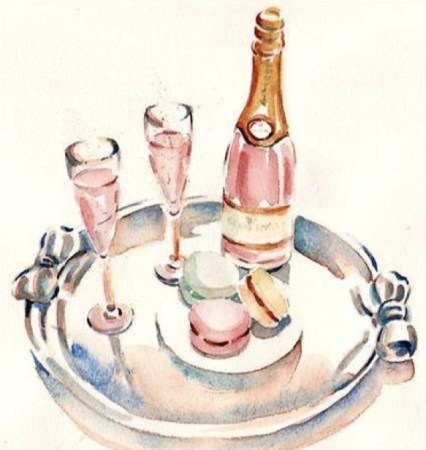 champagne and sweets