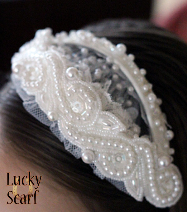 Bridal Headpiece turned First Communion Headband