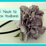 5 DIY Minute No Sew Flower Headbands