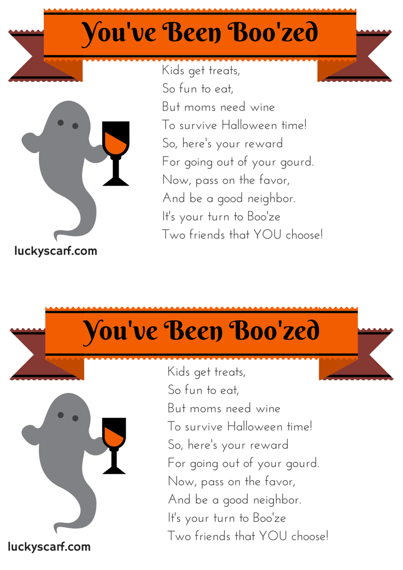 graphic relating to You've Been Boozed Printable titled Youve Been Boozed - No cost Printables LuckyScarf