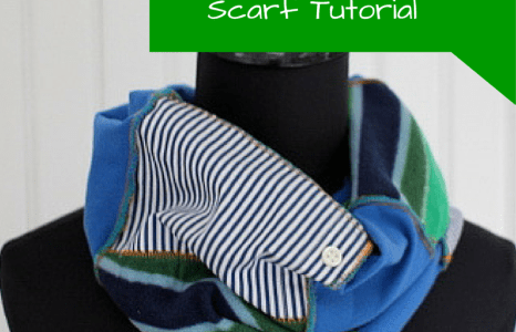 Upcycled Scrappy Scarf Tutorial
