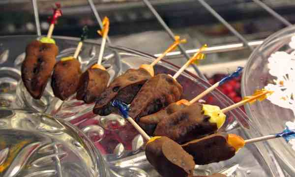 Chocolate covered datil peppers from the Sauce Boss of St. Augustine
