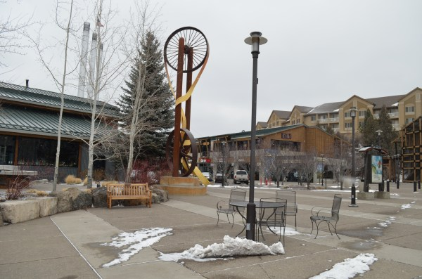 The Old Mill District offers a great shopping venue in a scenic location.