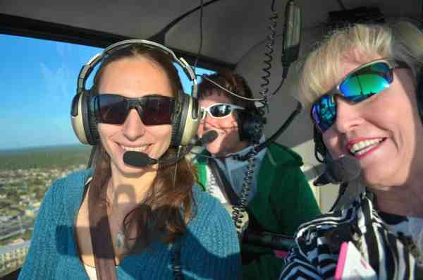 Flying over the beach with pilot Katie!