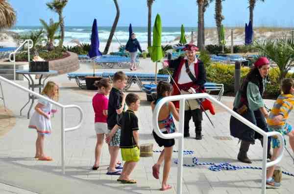 A pirate-led treasure hunt at family-friendly Orange Beach