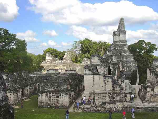 The limestone structures of Tikal