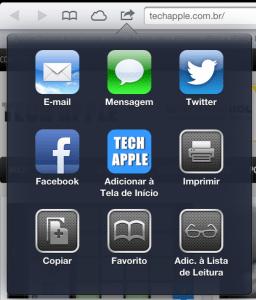 Adicionar uma página à tela inicial permite inclusive personalizar o ícone