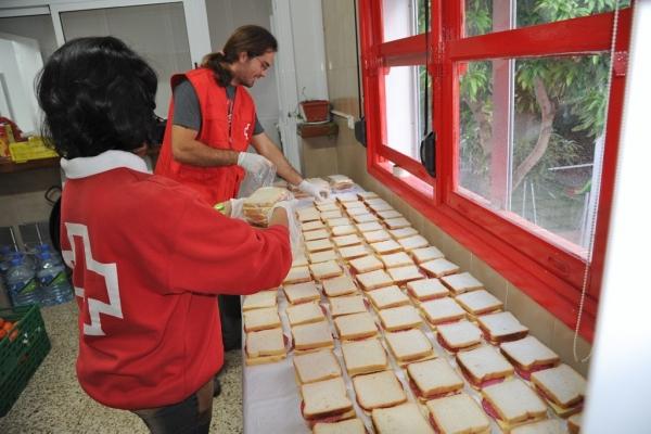 Canary Islands' Red Cross volunteers