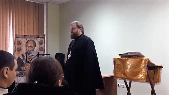 Выступление отца Иоанна