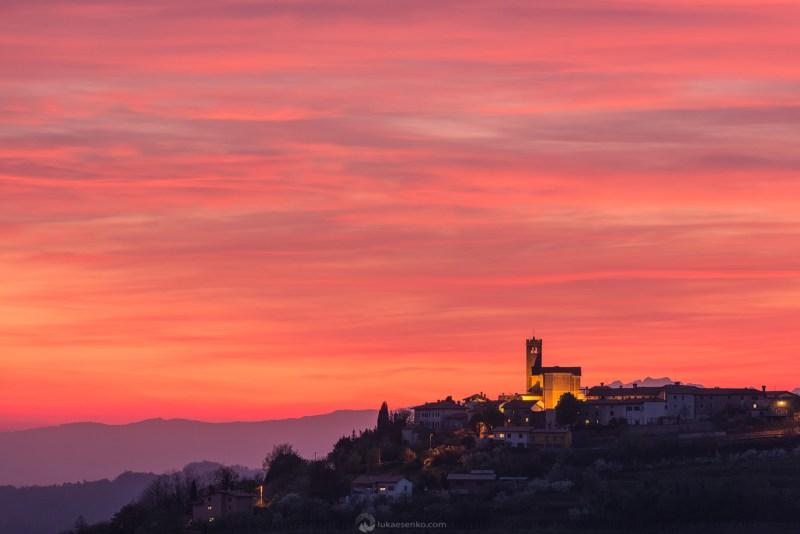 Šmartno town at sunset