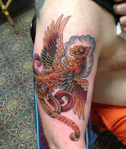 Phoenix cover up tattoo