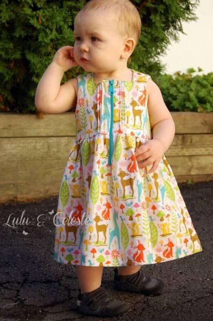 All Spice dress, pattern by Paisley Roots, sewn by Lulu&Celeste