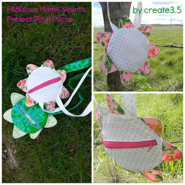 Petal purse sewn by Create 3.5