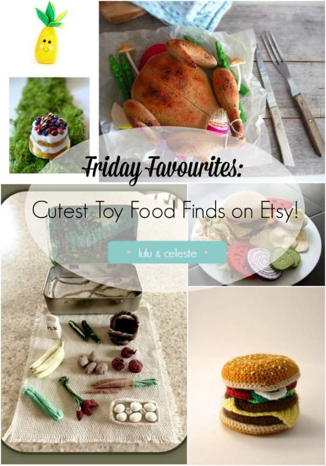 Ready made Toy Food finds on Etsy featured on Lulu & Celeste