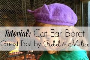 cat beret feature