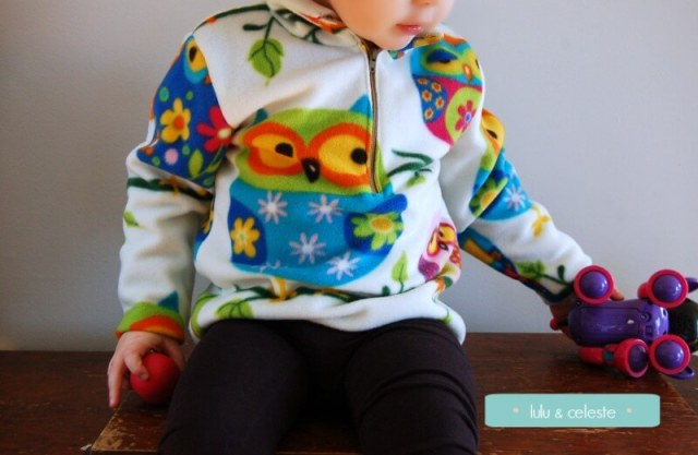 Fleece Pullover by 5 Out of 4 Patterns sewn by Lulu & Celeste