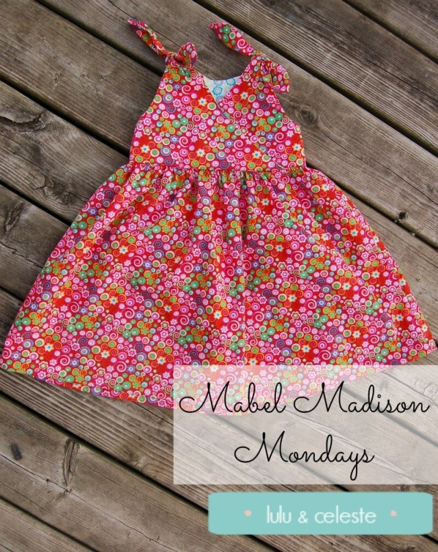 Petite Fille dress with Mabel Madison Stenzo sewn by Lulu & Celeste