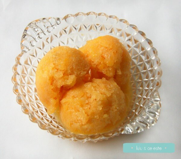 Recipe: Peach Mango Sorbet