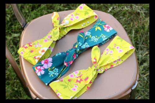 knotted-headbands Sugar Bee Crafts