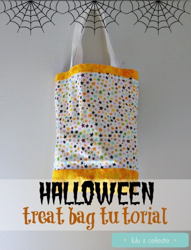Easy Halloween treat bag tutorial