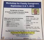 Workshop for Family Caregivers