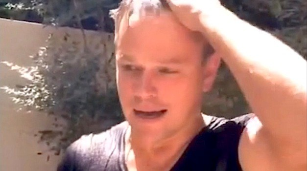 Matt Damon Takes the Ice Bucket Challenge…With Toilet Water?