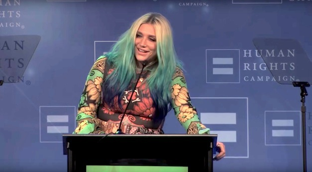 Kesha Receives Award for LGBT Community Work – Watch Her Moving Speech