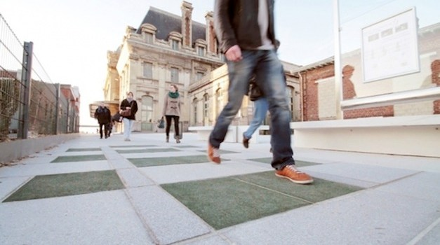 These Tiles Produce Renewable Energy When People Walk Over Them