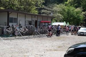 前日の木崎湖キャンプ場