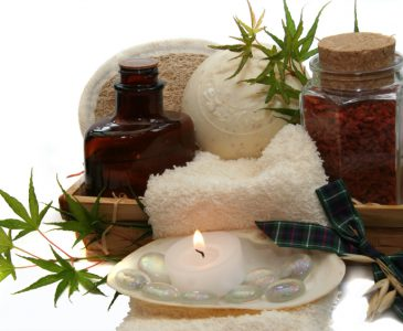 Soap, oil and crystals for masculine bathtime