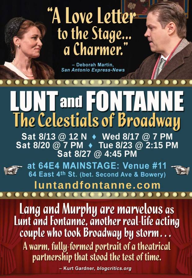 FringeNYC Lunt and Fontanne play