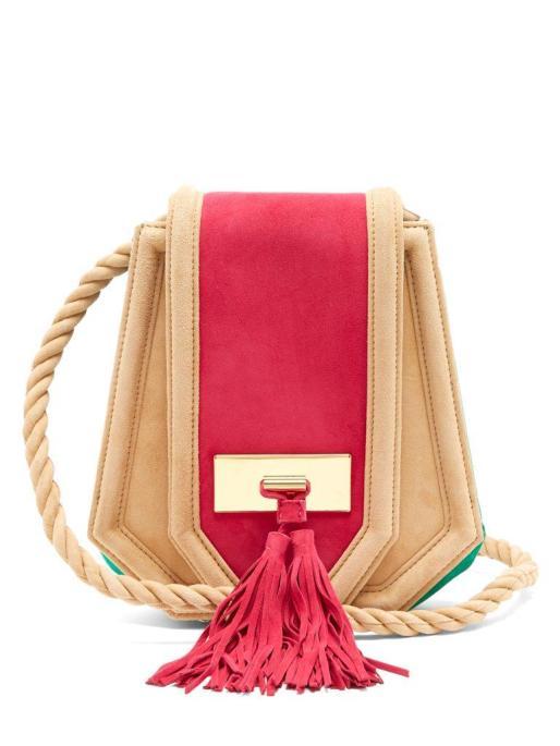 Balmain Chaska Suede Cross-body Bag