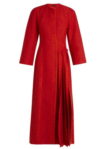 Carl Kapp Flame Pleated-side Coat