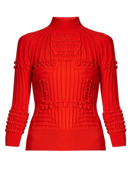 Mary Katrantzou Hardy Roll-neck 3-D Knit Sweater