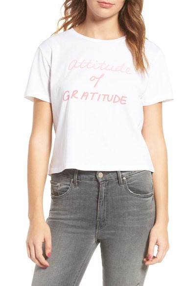 Mother T-Time Crop Graphic Tee