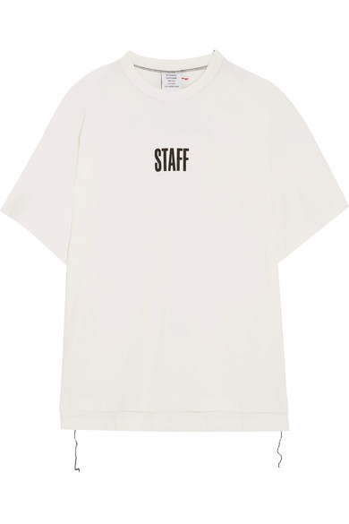 Vetements + Hanes Staff Oversized Printed Cotton-jersey T-shirt