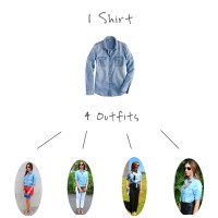 1 Shirt, 4 Outfits: Weekend Wear