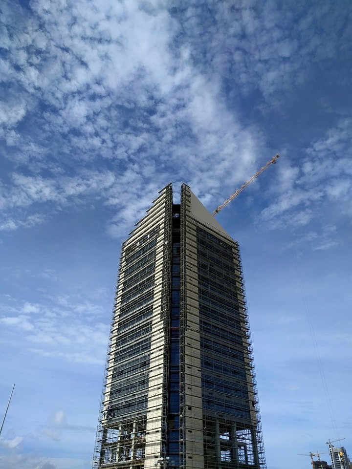 Photo Credit Alpha 1 tower under construction - Eko Atlantic