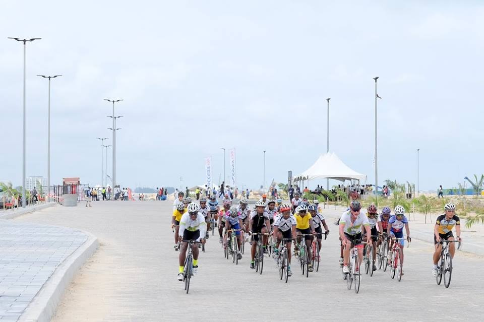 Photo Credit The First Ever Cycology Criterium bicycle race was held on Eko Atlantic May 30th 2016