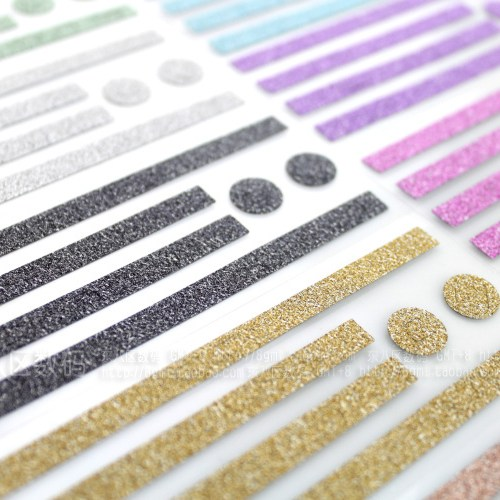 glitter sticker colors